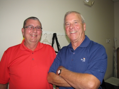 "Craig Sturm and Bob Fesmire at ""old employees' luncheon"""