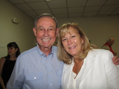 "Don Van Cleve and Tina Walker at ""old employees' luncheon"""
