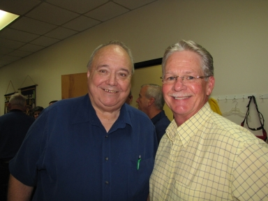 "Leo Green and Gary McMillin at ""old employees' luncheon"""