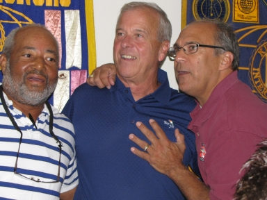 "Percy Lee, Bob Fesmire and Mike Spissinger at ""old employees' luncheon"""