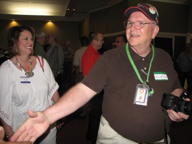 "Anne Haynie Phillips and Keith Todd at ""Old Timer's luncheon"""