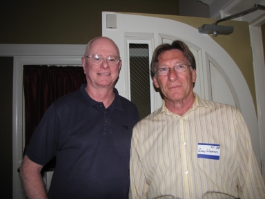 "Jim Ethridge and Garry Wheatley at ""Old Timer's luncheon"""