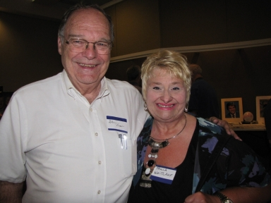 "Glen Brown and Paula Weitlauf at ""Old Timer's luncheon"""