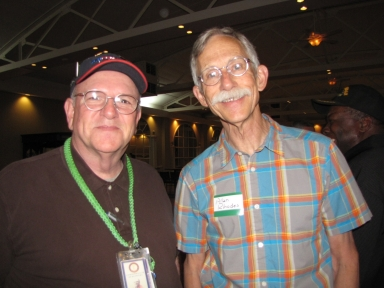 "Keith Todd and Allan Rhodes Jr. at ""Old Timer's luncheon"""