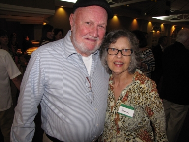 "Mike Swift and Johanna Comisak Rhodes at ""Old Timer's luncheon"""