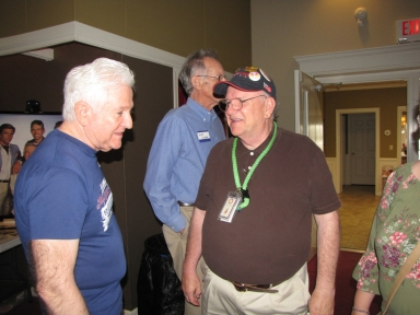 "Kurt David Englehardt, George Cumbee and Keith Todd at ""Old Timer's luncheon"""