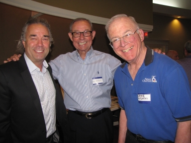 "Paul Brown, Don Van Cleve and Ernie Mitchell at ""Old Timer's luncheon"""