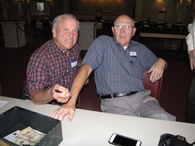 "Bob Fesmire and Charlie Katterjohn at ""Old Timer's luncheon"""