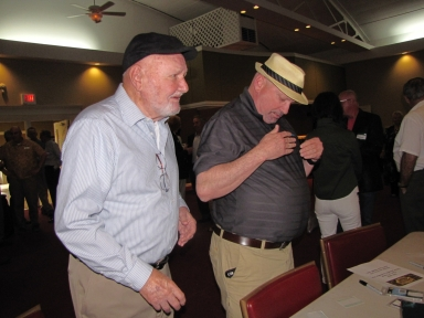 "Mike Swift and Lew Jetton at ""Old Timer's luncheon"""