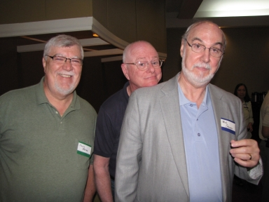"Kenny Jones, Jim Ethridge and Bob Crosno at ""Old Timer's luncheon"""