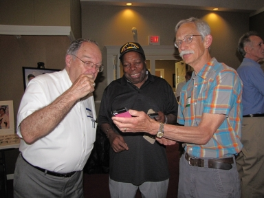 "Glen Brown, Sam Burrage and Allan Rhodes Jr. at ""Old Timer's luncheon"""