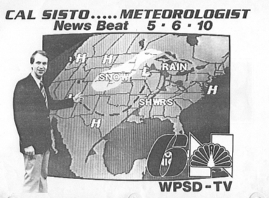 Promo for meteorologist Cal Sisto