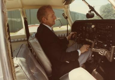 Corporate pilot Bill Watson