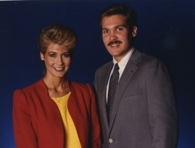 News anchors Dianne Anderson and Sam Champion