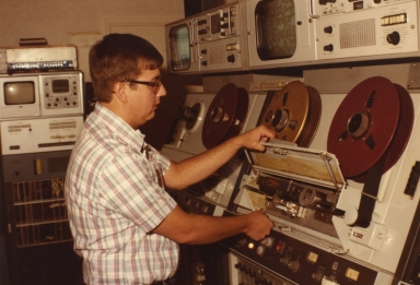Tape operator Craig Sturm