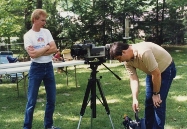 Photographers Jim Ethridge and Kenny Jones at news department promotion shoot