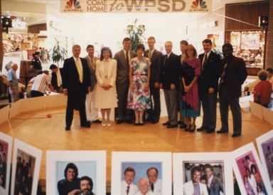 News department personnel at promotion at Kentucky Oaks Mall