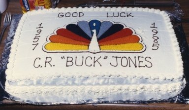 "C.R. ""Buck"" Jones, sales department, retirement party at the station"