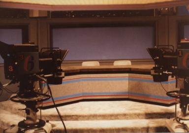News set in studio