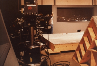 Old news set being removed from studio