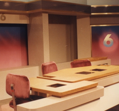 New news set after installation in studio