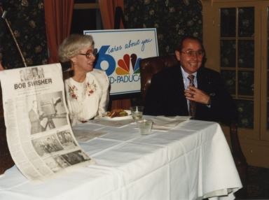 Hilda Swisher and Bob Swisher at Bob's retirement