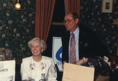 Hilda and Bob Swisher at his retirement party