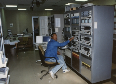 Injest operator Percy Lee in master control