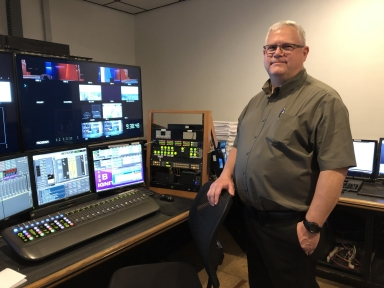 Operations director Mark Hall in control room