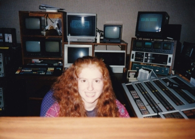 Emily Spivy in the control room