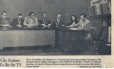 "Paris (TN) city officials with Channel 6 host Dan Steele on ""Accent"" program"