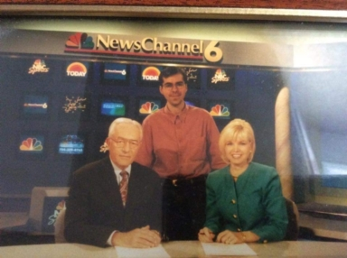 News anchors Tom Butler and Amy Watson and news producer Jody Smith