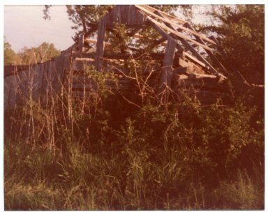 Old Log Barn on the Harlen Parker Farm