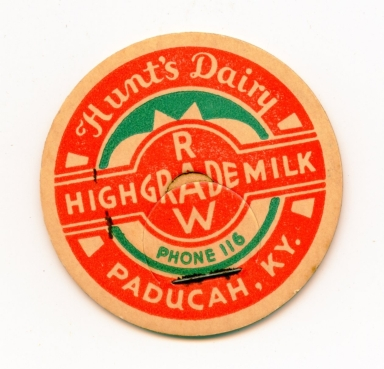 Hunt's Dairy Advertising Button