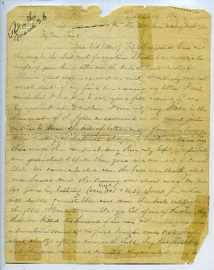 Frank B. Smith Letter, March 17, 1862