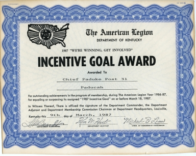 Incentive Goal Award