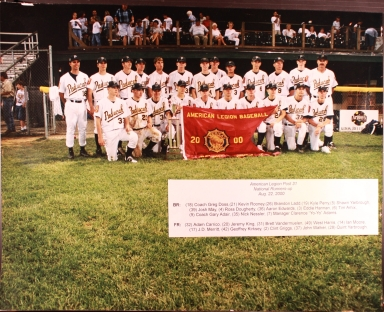 Paducah Post 31 2000 Baseball Team
