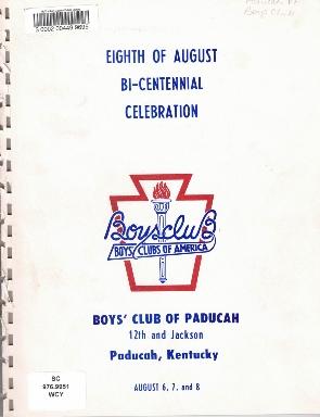 8th of August Emancipation Celebration 1976 Program