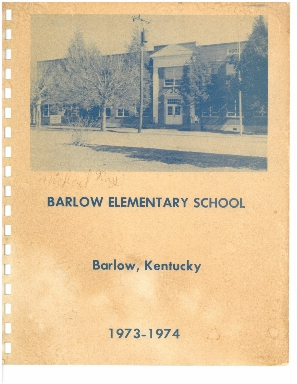 Barlow Elementary School Yearbook, 1973 - 1974