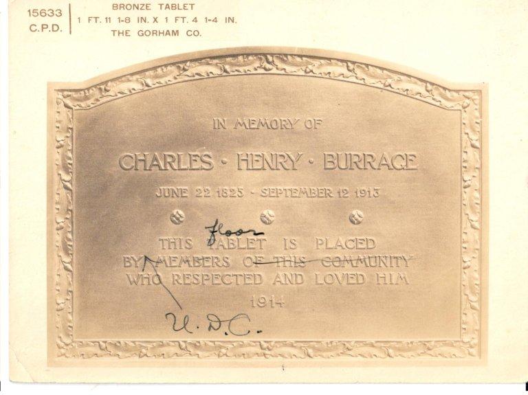 In Memory of Charles Henry Burrace