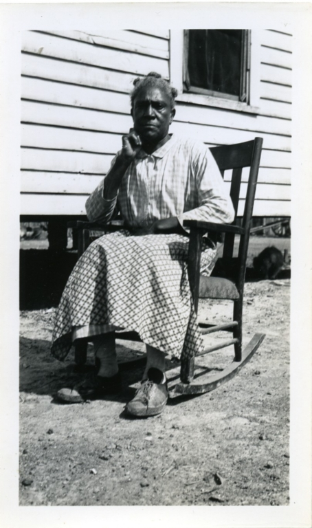 Minerva Williams Sitting in the Rocker