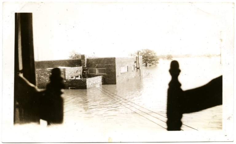Radio Station on northside during '37 flood.