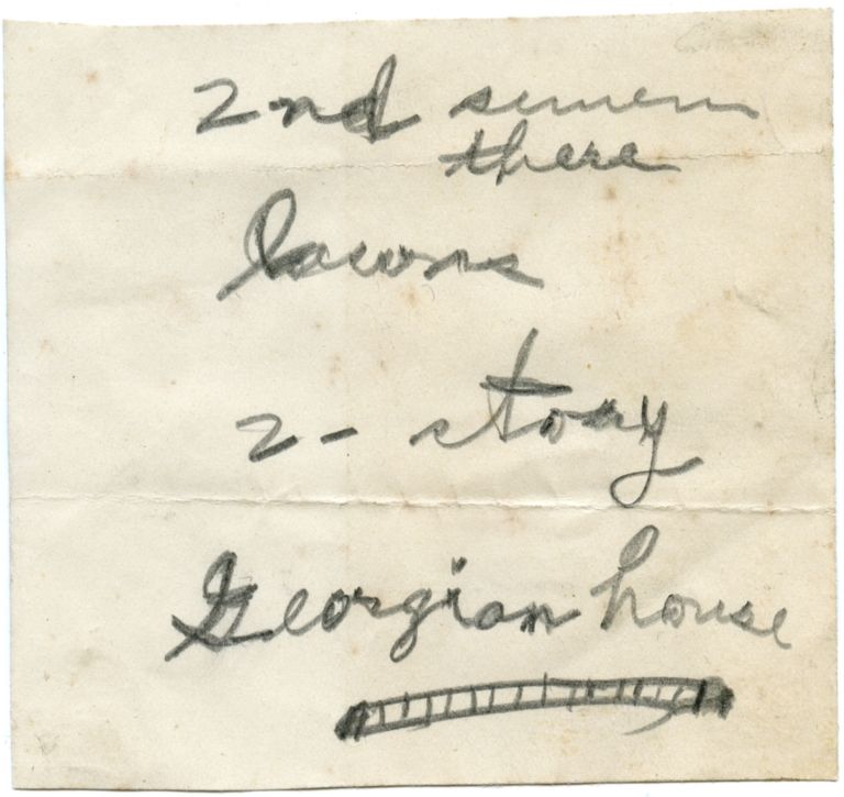 Note about a House
