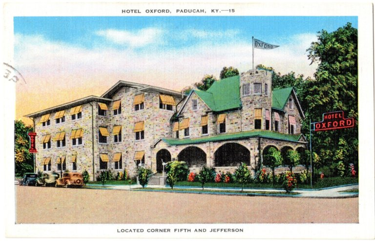 Hotel Oxford, Paducah, K.-15, Located Corner Fifth and Jefferson