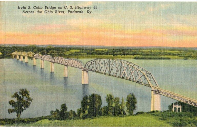 Irvin S. Cobb Bridge on U.S. Highway 45 Across the Ohio River, Paducah, KY