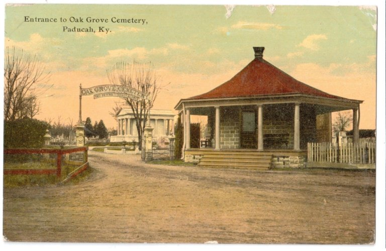 Entrance to Oak Grove Cemetery, Paducah, Ky