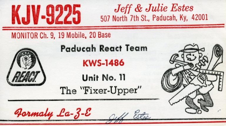 Ham radio operator KJV-9225 in Paducah (KY)