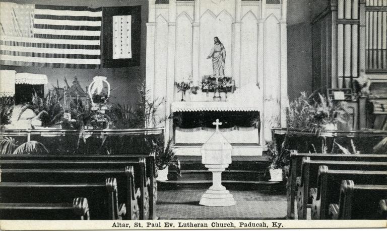 Altar of St. Paul Evangelical Lutheran Church in Paducah (KY)