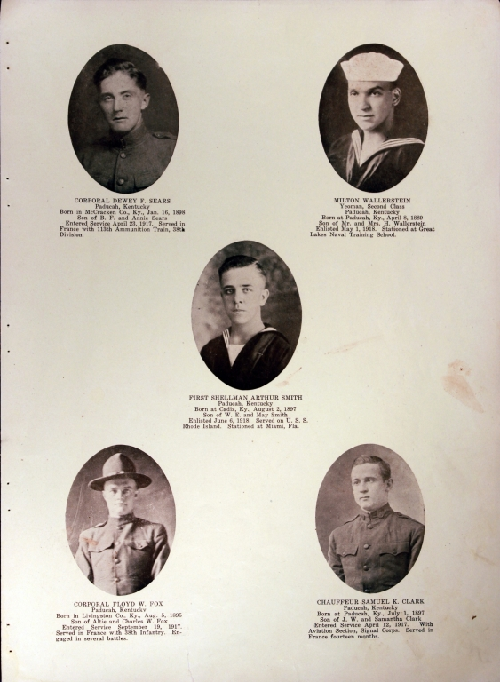 WWI Honor Roll Page 120