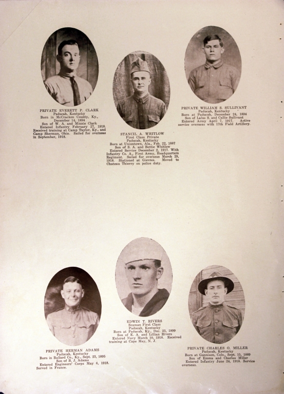 WWI Honor Roll Page 135